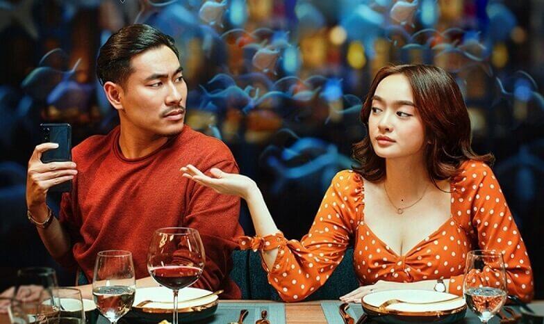Kaity và Kiều Minh Tuấn đẹp đôi trong Tiệc Trăng Máu