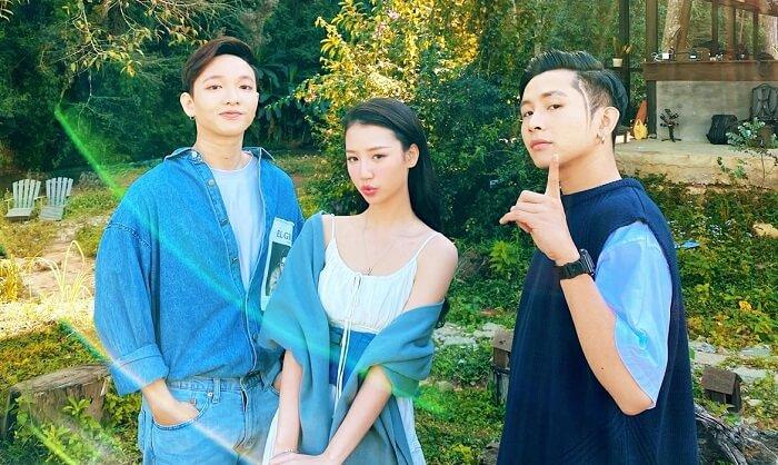 Hoàng Dũng - Amee - Ricky Star (Từ trái sang)