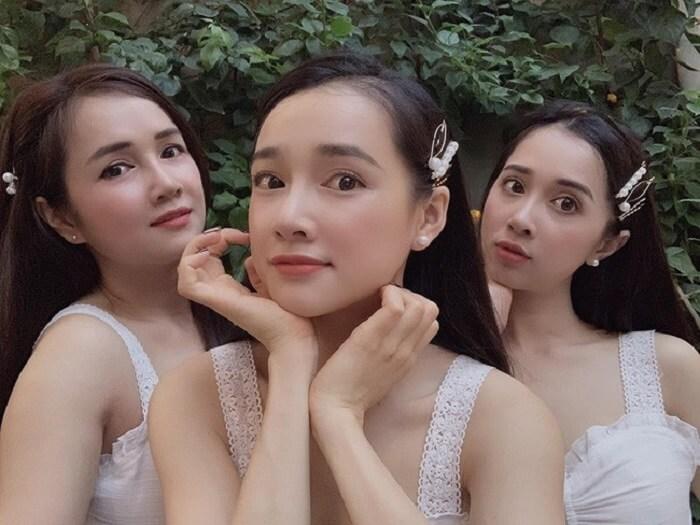 Hình ảnh chị em của Nhã Phương