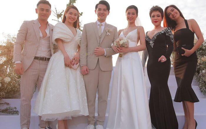 Nhã Phương dự đám cưới Đông Nhi - Ong Cao Thắng