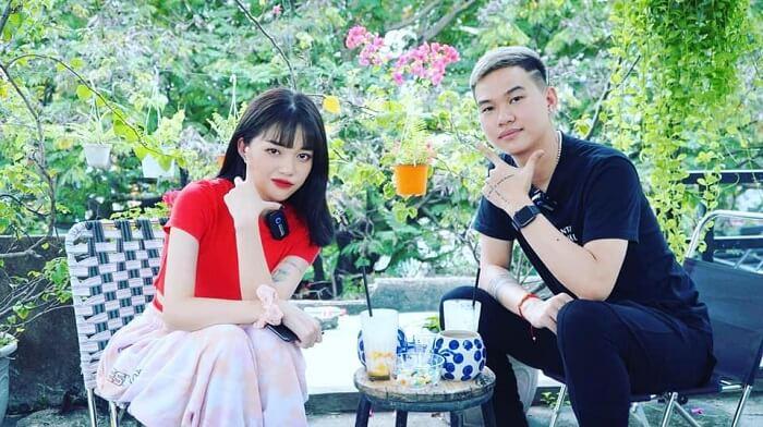 Anh và Linh Ngọc Đàm trong video 10 Fact
