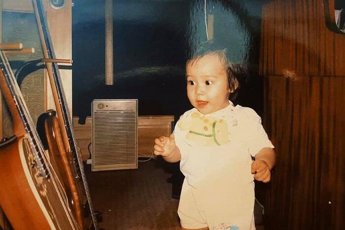 Hình ảnh đáng yêu của cô lúc nhỏ